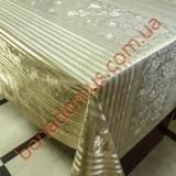 8408 F Клеенка ПВХ на тканной основе шелкография золото/серебро 1,40*20м