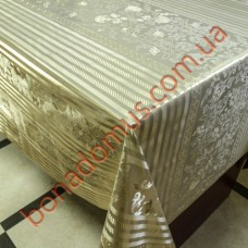 8408 F Клейонка ПВХ на тканинній основі шовкографія золото/срібло 1,40*20м