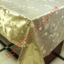 8497 F Клеенка ПВХ на тканной основе шелкография золото/серебро 1,40*20м