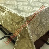 8400 F Клеенка ПВХ на тканной основе шелкография золото/серебро 1,40*20м