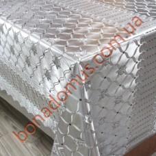 079 G-S Клейонка ПВХ на тканинній основі шовкографія золото/срібло 1,40*20м