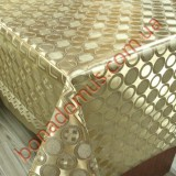 081 C-LG Клеенка ПВХ на тканной основе шелкография золото/серебро 1,40*20м