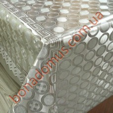 081 G-S Клеенка ПВХ на тканной основе шелкография золото/серебро 1,40*20м
