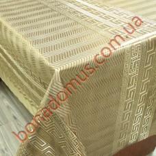 082 C-LG Клеенка ПВХ на тканной основе шелкография золото/серебро 1,40*20м