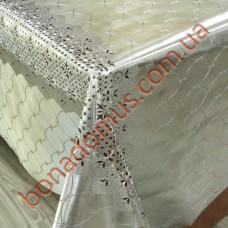 092 G-S Клеенка ПВХ на тканной основе шелкография золото/серебро 1,40*20м