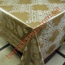 8401 BF Клейонка ПВХ на тканинній основі шовкографія золото/срібло 1,40*20м