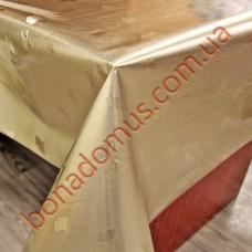 249-035 Клеенка силикон 2-х сторонняя серебро/золото 1,37*20м