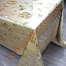 8639 BF Клейонка ПВХ на тканинній основі шовкографія золото/срібло 1,40*20м