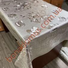 8284 B Скатерти на тканной основе шелкография  золото/серебро 1,20*1,50м 10шт
