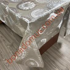 8421 B Клеенка ПВХ на тканной основе шелкография золото/серебро 1,40*20м