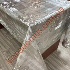 8857 B Клейонка ПВХ на тканинній основі шовкографія золото/срібло 1,40*20м