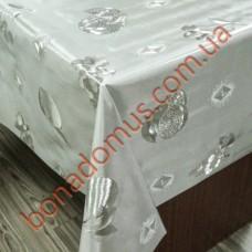 8222 B Клеенка ПВХ на тканной основе чеканная золото/серебро 1,40*20м