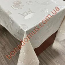 8830 Клейонка ПВХ на тканинній основі однотонна карбована 1,40*20м