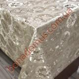 8802 F Клеенка ПВХ на тканной основе шелкография золото/серебро 1,40*20м