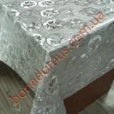 8802 B Клеенка ПВХ на тканной основе шелкография золото/серебро 1,40*20м