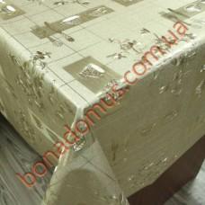 8237 F Клеенка ПВХ на тканной основе чеканная золото/серебро 1,40*20м