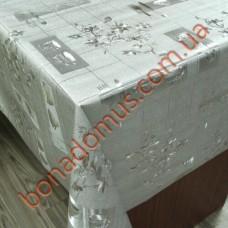 8237 B Клейонка ПВХ на тканинній основі карбована золото/срібло 1,40*20м