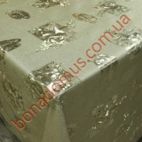 8827 F Клеенка ПВХ на тканной основе шелкография золото/серебро 1,40*20м