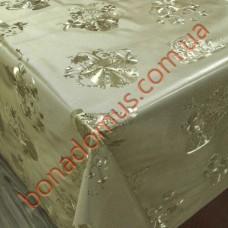 8171 F Клеенка ПВХ на тканной основе шелкография золото/серебро 1,40*20м