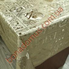 8941 F Клеенка ПВХ на тканной основе чеканная золото/серебро 1,40*20м