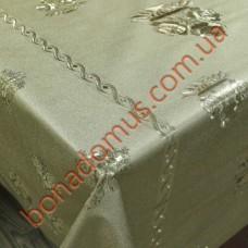8234 F Клейонка ПВХ на тканинній основі карбована золото/срібло 1,40*20м