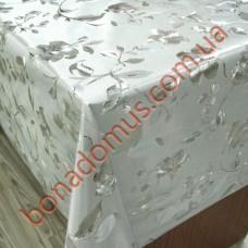 8818 B Клейонка ПВХ на тканинній основі шовкографія золото/срібло 1,40*20м