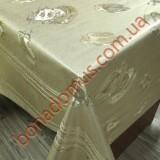 8258 F Клеенка ПВХ на тканной основе чеканная золото/серебро 1,40*20м