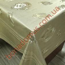 8258 F Клейонка ПВХ на тканинній основі карбована золото/срібло 1,40*20м