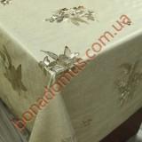 8545 F Клеенка ПВХ на тканной основе шелкография золото/серебро 1,40*20м