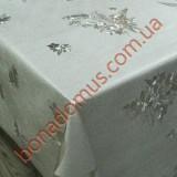 8545 B Клеенка ПВХ на тканной основе шелкография золото/серебро 1,40*20м