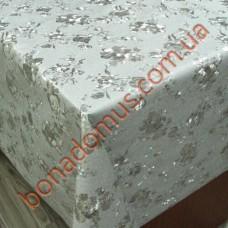 8801 B Клеенка ПВХ на тканной основе шелкография золото/серебро 1,40*20м