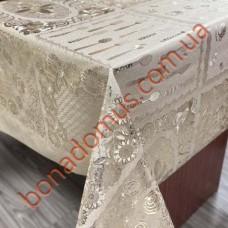 8242 F Клеенка ПВХ на тканной основе чеканная золото/серебро 1,40*20м
