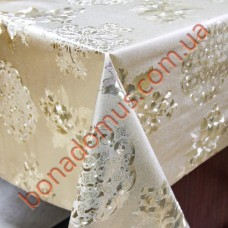 8721 F Клеенка ПВХ на тканной основе шелкография золото/серебро 1,40*20м