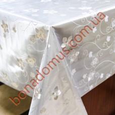 8497 B Клейонка ПВХ на тканинній основі шовкографія золото/срібло 1,40*20м