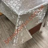 8004 B Клейонка ПВХ на тканинній основі карбована золото/срібло 1,40*20м