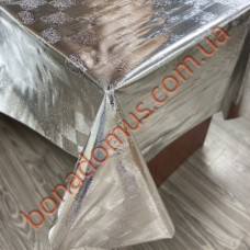 8713 B Клеенка ПВХ на тканной основе шелкография золото/серебро 1,40*20м
