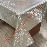 8847 B Клейонка ПВХ на тканинній основі шовкографія золото/срібло 1,40*20м