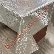 8847 B Клеенка ПВХ на тканной основе шелкография золото/серебро 1,40*20м