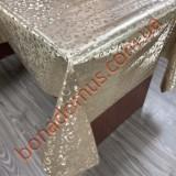 8847 F Клейонка ПВХ на тканинній основі шовкографія золото/срібло 1,40*20м