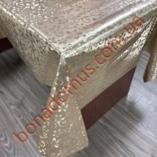 8847 F Клеенка ПВХ на тканной основе шелкография золото/серебро 1,40*20м