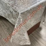 8028 B Клейонка ПВХ на тканинній основі карбована золото/срібло 1,40*20м