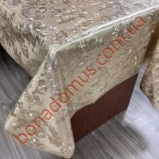 8028 F Клеенка ПВХ на тканной основе чеканная золото/серебро 1,40*20м