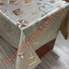 8812 BF Клейонка ПВХ на тканинній основі шовкографія золото/срібло 1,40*20м