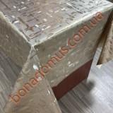 8308 BF Клейонка ПВХ на тканинній основі шовкографія золото/срібло 1,40*20м