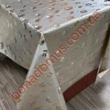8307 BF Клейонка ПВХ на тканинній основі шовкографія золото/срібло 1,40*20м