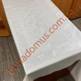 8227 Скатертини ПВХ на тканинній основі однотонна карбована 1,06*1,37м 20шт