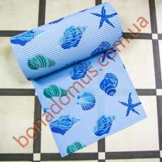 10401 Blue Коврик в ванную 0,65*15м