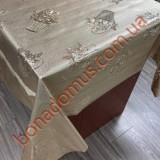 8081 F Клейонка ПВХ на тканинній основі карбована золото/срібло 1,40*20м