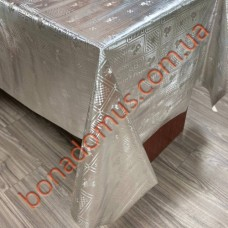 8225 B Клейонка ПВХ на тканинній основі карбована золото/срібло 1,40*20м