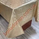 8225 F Клейонка ПВХ на тканинній основі карбована золото/срібло 1,40*20м